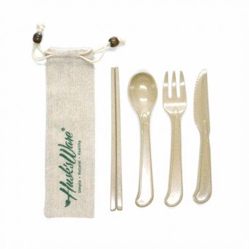 Jute Bag Cutlery Set