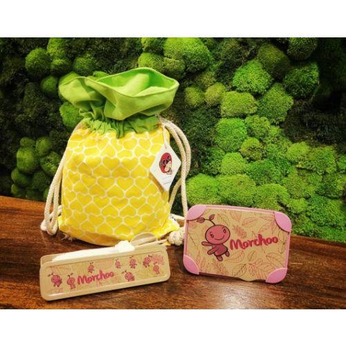 Ang Ku Kueh Girl Pineapple Bag & Morchoo Set