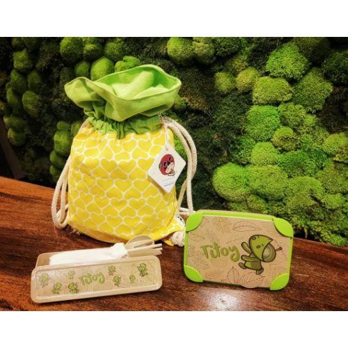Ang Ku Kueh Girl Pineapple Bag & Titoy Set