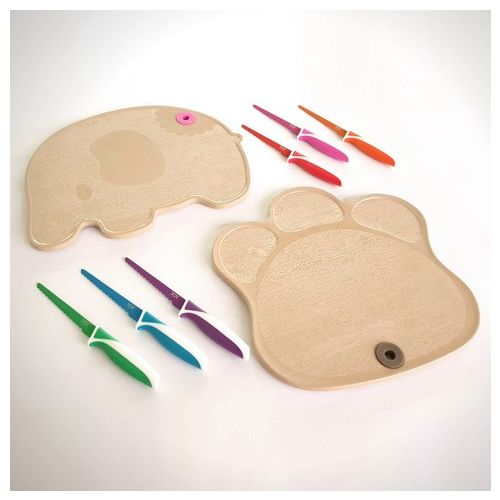 Bundle: Kiddikutter + Huskware Cutting Board for kids